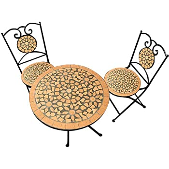 Mosaic Garden Furniture Set Quot Sunflower Quot Design Amazon Co