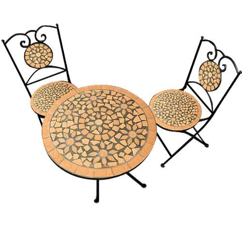"""Mosaic garden furniture set """"Sunflower"""" Design"""