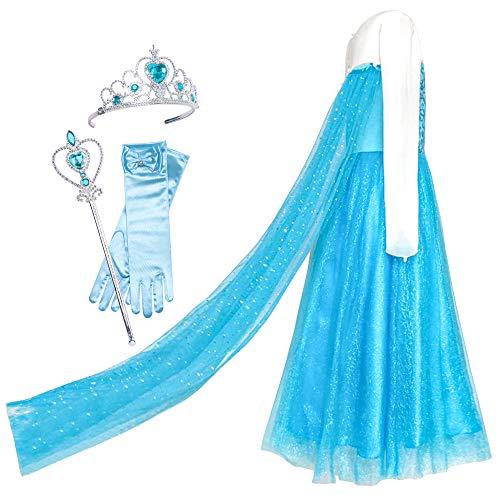 eid ELSA Prinzessin Zubehör Krone Zauber Zauberstab Gr. 116 ()