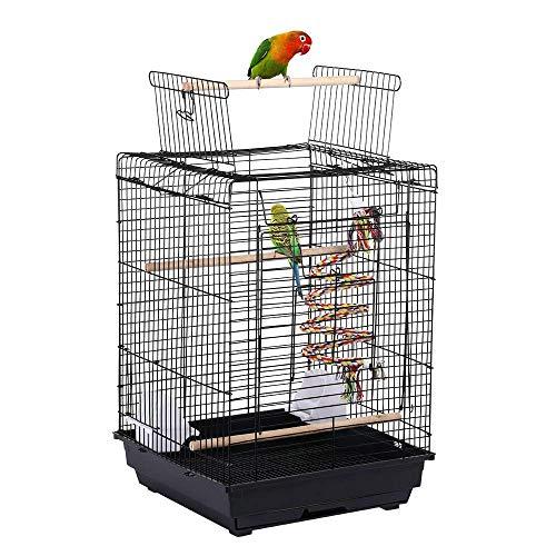 Yaheetech Jaula para Pájaros Jaula con Comedero 40 x 40 x 58 cm