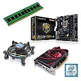 one Aufrüstkit · Intel Core i5-7400, 4 x 3.00GHz · 2 GB AMD Radeon R7 240 · 4 GB DDR4 RAM · Gigabyte GA-B250M-D3H · Kabylake · Aufrüstset · Mainboard Bundle · PC Tuning Kit