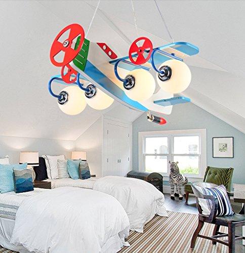 Kronleuchter zu Hause personalisierte Kronleuchte Aircraft Kronleuchter Led Creative Kinderzimmer Lichter Junge Mädchen Schlafzimmer Moderne niedliche Lampen - 2