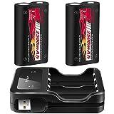 Manette Xbox One Batterie, 2500 mAh rechargeable Batterie pour Xbox One / S / One X / One Elite, pack de 2 batteries 1 chargeur avec câble de chargement