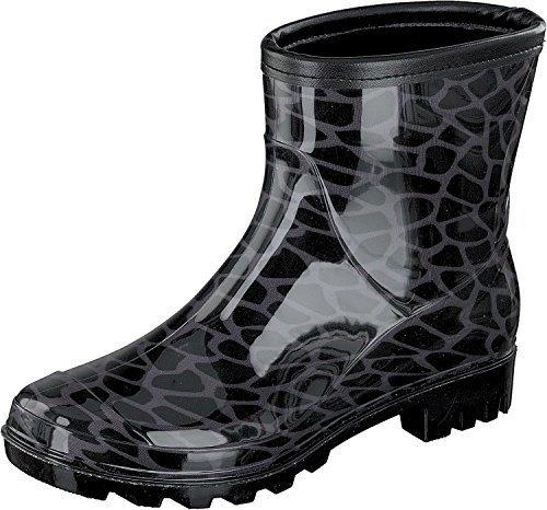 Gosch Shoes Sylt - Donna Halbschaft Stivali di gomma 7101-501 Rettile in 2 colori nero-grigio