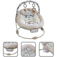 Todeco - Bouncer para Bebés, Cuna Bouncer - Tamaño: 57 x 40,4 x 11,6 cm - Carga máxima: 10 kg - Patrón de mono blanco