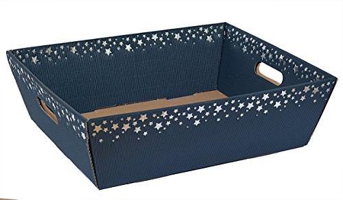 """10 Stück""""Präsentkorb Sternenregen blau"""" groß, Weihnachtskorb, Geschenkkorb,"""
