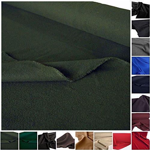 KASCHMIR Wollstoff mittelschwer - flauschige Meterware am Stück (Antik-Grün) (Wolle Stoff Jacke Mantel)