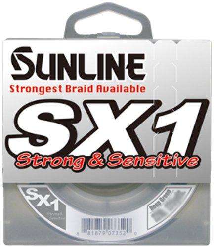 Unbekannt Sunline SX1 Geflochtene Angelschnur (Dunkelgrün, 3,7 kg Test/3,7 m), dunkelgrün, 12-Pound Test/250-Yard -