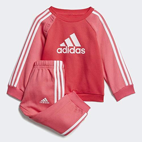 adidas I Logo Jogger Fleece Sweatshirts, Unisex Kinder XL Aktives Pink/Real Pink S18/Weiß