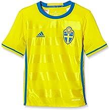 Adidas Svff H JSY Y Camiseta 1ª Equipación Línea Asociación Sueca de Fútbol, Niños,