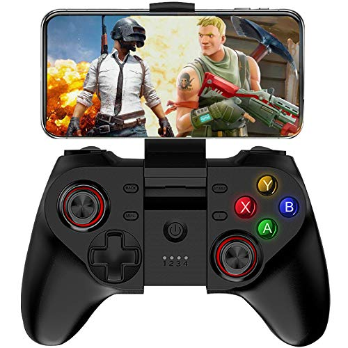 Mobile Game Controller, Megadream Wireless Key Mapping Gamepad Joystick Perfect für PUBG & Fotnite, Kompatibel für iOS Android iPhone iPad Samsung Galaxy Tablet PC - Direct Play (Grand Free V Auto Theft)