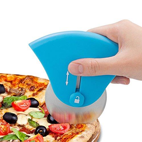 Pizza Cutter Wheel Ruota In Acciaio Inox E Taglierina Per Uso Domestico E Amanti Della Pizza (Blu, 11,8 * 11 Cm)
