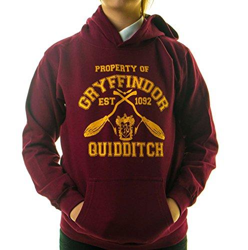 Gordon Stone Property of Gryffindor Quidditch Team Kapuzenpullover Harry Potter Hogwarts Support Einzelhandelsqualität
