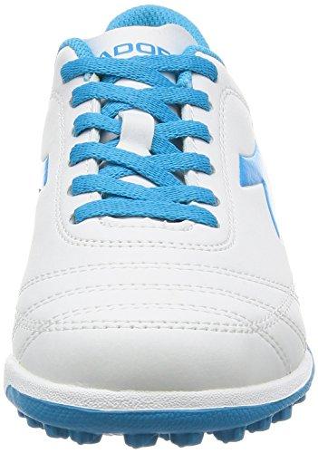 Diadora 650 Iii Tf Jr, pour les Chaussures de Formation de Football Mixte Enfant Blanc Cassé (Bianco/blu Fluo)