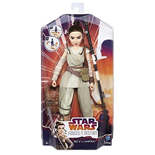Hasbro Star Wars C1622ES0 - Die Mächte des Schicksals 11 Zoll Deluxe Action Puppe - Rey, Actionfigur