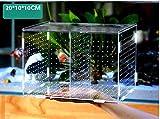 Fisch Zuchtbox mit Kunststoff Saugnäpfen für Aquarium Schraffur Hochwertige Acryl Box Aquarium Zubehör Multifunktionale Mini Aquarium Tanks 20 x 10 x 10 cm