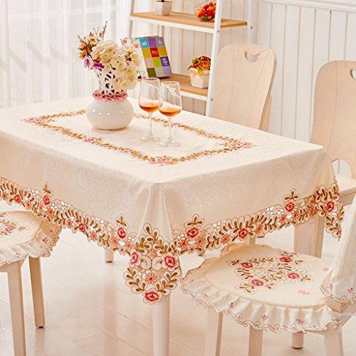 Nappes Tissu Table Tissu Carré Brodé Européenne Nappe Couverture Serviette Table Basse Tissu Rose Modèles ( taille : 55*175cm )