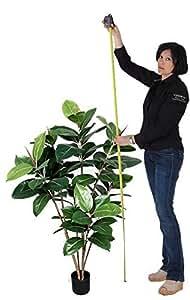 Ficus Elastica - Artificiale H.120 cm - Verde - con Vaso