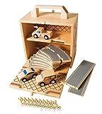 BOXSET Auto, Spielset aus Holz für unterwegs, 24 Teile