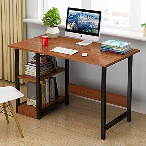DDGOD Escritorio de computadora con estantes