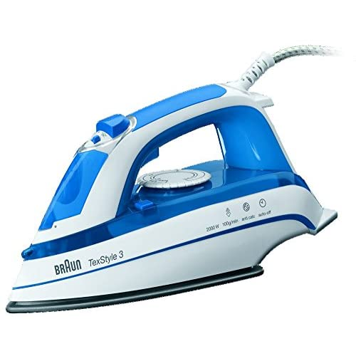 51RIQrF8geL. SS500  - Braun TexStyle 3 TS355A Steam Iron - Blue & White