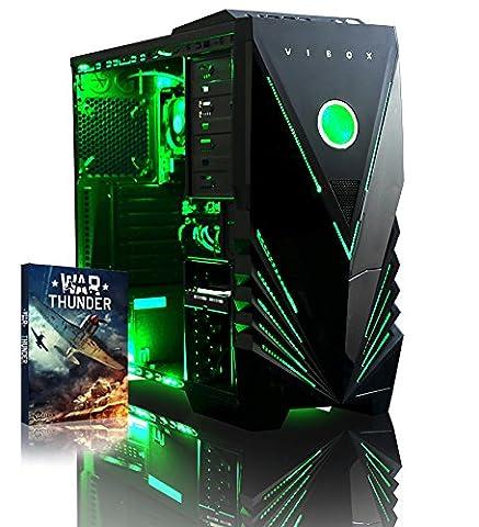 Vibox Ultra 11A Gaming PC - with Warthunder Game Bundle (3.1GHz AMD A8 Quad Core Processor, Radeon R7 Graphics Chip, 1TB Hard Drive, 8GB RAM, Vibox Predator Green LED Case, No Operating