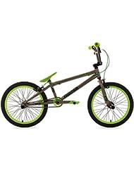 "KS Cycling Fahrrad BMX Freesyle 20"" Twentyinch anthrazit-grün KS Cycling, anthrazit, 20, 600B"
