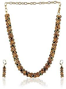 Adi Beautiful Gold Finished Necklace Set SC000058