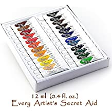 Conjunto de Pintura Daveliou Óleos - 12ml x 24 Tubos de Pinturas - Set de Pintura Óleo No Tóxica para Principiantes Estudiantes y Artistas
