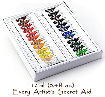 Daveliou Oil Paints Set – 12ml X 24 Colour Paint Tubes – Non Toxic Painting Kit For Beginners Students & Artists 9