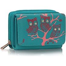 Ladies Women's Fashion Designer Owl / Bow Design Purse Wallet