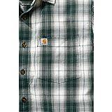 Carhartt Workwear Arbeitshemd Arbeitsshirt - Slim Fit Plaid Shirt - Hunter Green (XXL)