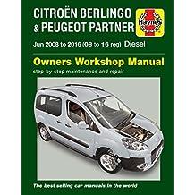 Citroen Berlingo & Peugeot Partner Diesel Owners Workshop Ma