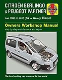 Haynes Manual Citroen Berlingo B9 Multispace & Van & Peugeot Partner Diesel 2008-2016