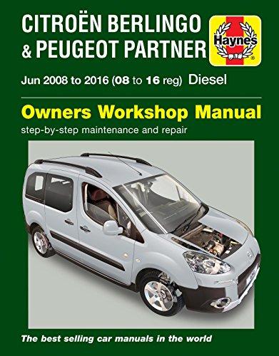 Preisvergleich Produktbild Haynes Handbuch Citroen Berlingo B9 Multispace & Van & Peugeot Partner Diesel 2008-2016, englische Version