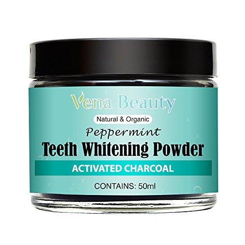 Poudre de blanchiment des dents de charbonactivé - Contient: 60ml