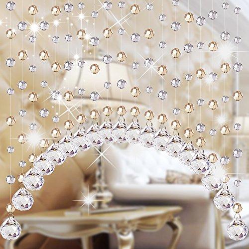 Cortina moldeada cristalina,Brillante boda cadena cortina puerta-A