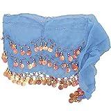 Orientalisch Bauchtanz Schal und Damen Tuch 1001 Nacht Blau