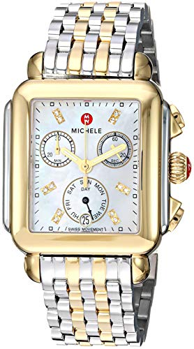 Michele Deco Signature Women's 33mm Chronograph Quartz Date Watch MWW06P000122