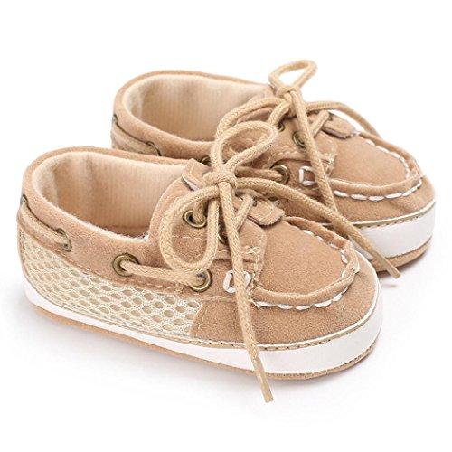 Chaussures bébé,Xinan Chaussures Garçon Fille Cuir Souple Automne Chaussures Mode