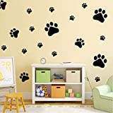 Best Home Styles Cat Foods - PAWANG Funny Dog Cat Paw DIY Vinyl Wall Review