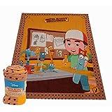 Disney Meister Mannys Werkzeugkiste Kinder Bettdecke Fleecedecke Kuscheldecke Babydecke 130x170 cm
