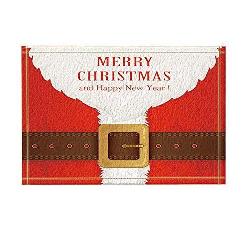 Aliyz Frohe Weihnachten Dekor, Santa Claus Red Outfit -