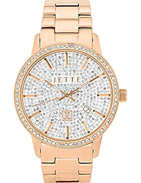 JETTE Time Damen-Armbanduhr REFLEKTION Analog Quarz One Size, weiß, roségold