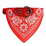 probeninmappx Einstellbare Hund Bandana Halstuch Hundehalsband Welpen Katze Schal Kragen Drucke Krawatte Kragen Zubehör, Rot 32 * 1 cm