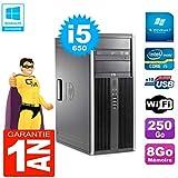 HP PC 8100 Tour Core i5-650 RAM 8Go Disque 250Go Graveur DVD WiFi W7 (Reconditionné)