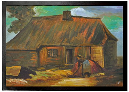 Vincent Van Gogh - Cottage With Peasant Woman Digging, 1885 Felpudo Alfombrilla (70 x 50cm)
