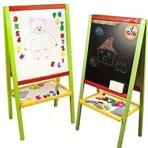 tableau debout 89x45cm tableau pour enfants abaque tableau aimants dessiner bois aimant. Black Bedroom Furniture Sets. Home Design Ideas