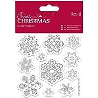Create Christmas Clear Stamps Tampons transparents motif flocons de neige 11pièces