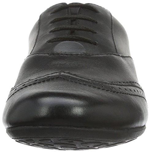 Clarks Kids Tizz Honey Bl, Baskets Basses fille Noir (Black Leather)